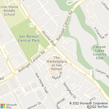 Map - Bollinger Canyon Animal Hospital - 400 Montgomery Street - San Ramon, CA, 94583
