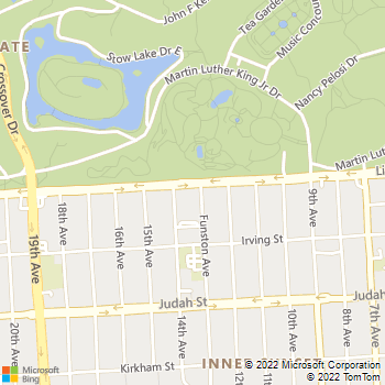 Map - Park West - 1201 Funston Ave - San Francisco, CA, 94122