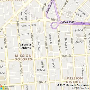 Map - Vara Apartments - 1600 15th St - San Francisco, CA, 94103