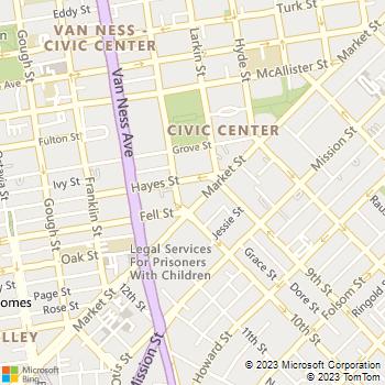 Map - Fox Plaza - 1390 Market St Ste 107 - San Francisco, CA, 94102