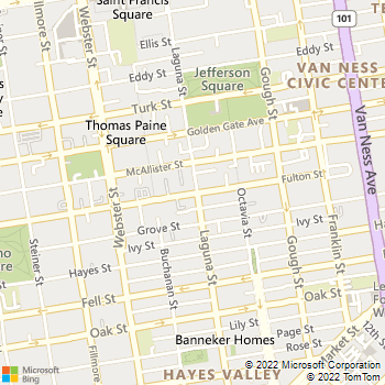 Map - Best Green Services - 600 Fulton Street - San Francisco, CA, 94102