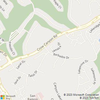 Map - Home Plumbing - 17 Suva Court - San Ramon, CA, 94582