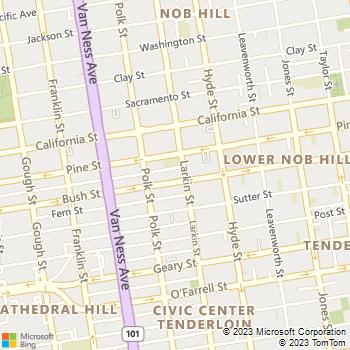 Map - The Terraces - 1330 Bush St - San Francisco, CA, 94102