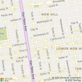 Map - Nob Hill Cat Clinic & Hospital - 1540 California St - San Francisco, CA, 94109