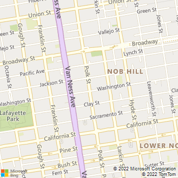 Map - San Francisco Veterinary Housecalls - 1819 Polk St. #377 - San Francisco, CA, 94109