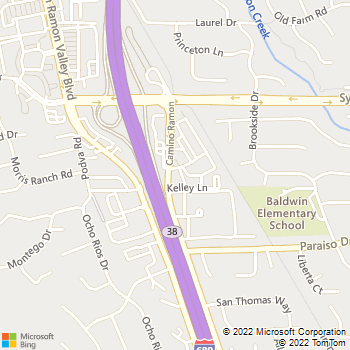 Map - Danville Veterinary Hospital - 812 Camino Ramon Rd. - Danville, CA, 94526