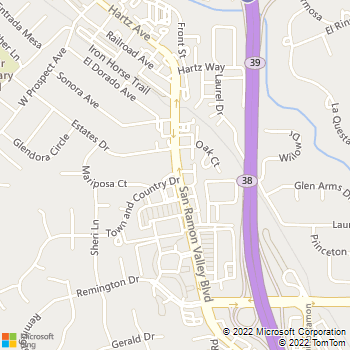 Map - Oak Tree Animal Hospital - 579 San Ramon Valley Blvd - Danville, CA, 94526