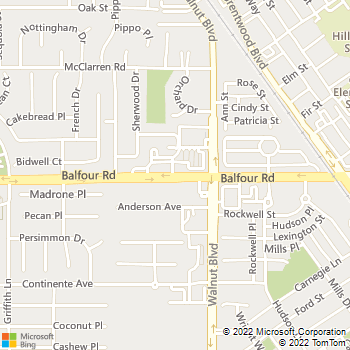 Map - Brentwood Family Pet Care - 4421-A Balfour Rd. - Brentwood, CA, 94513