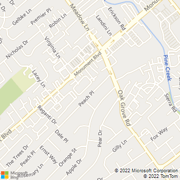 Map - A Carpenter Handy Man - 1811 Peach Place - Concord, CA, 94518