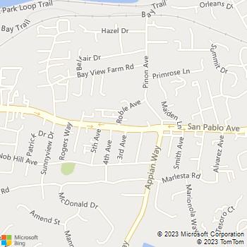Map - Pinole Pet Hospital - 1400 San Pablo Ave - Pinole, CA, 94564