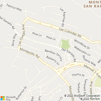 Map - SOS Electric - 674 Bamboo Terrace - San Rafael, CA, 94903