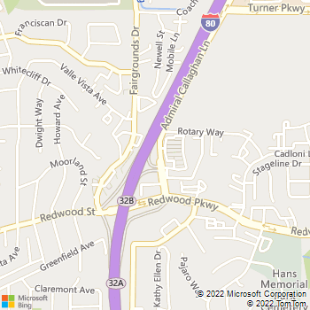 Map - Redwood Veterinary Hospital - 731 Admiral Callaghan Ln - Vallejo, CA, 94591