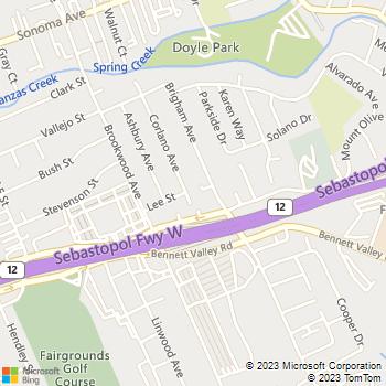 Map - Scion Landscape - 702 Corlano Avenue - Santa Rosa, CA, 95404