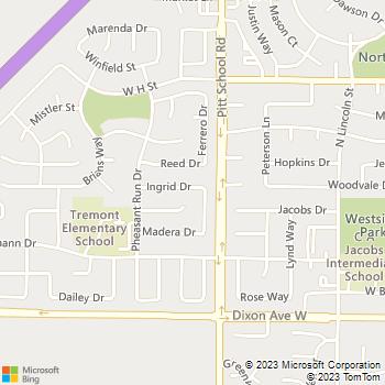Map - A-1 Landscaping & Yard - 1465 Ingrid Drive - Davis, CA, 95616