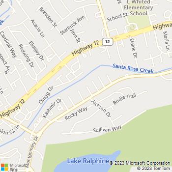 Map - Eagle Home Repair - 4707 Montgomery Drive - Santa Rosa, CA, 95409