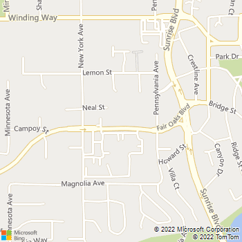 Map - RCI General Contractors - 9801 Fair Oaks Boulevard, Suit - Fair Oaks, CA, 95628