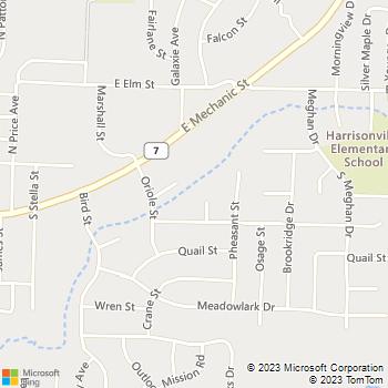 Map - Ridgewood Hills - 300 Ridgewood Ct - Harrisonville, MO, 64701