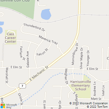 Map - Thunderbird Apartments - 2402 E Mechanic St - Harrisonville, MO, 64701