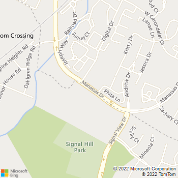Map - Blooms Crossing Animal Hospital - 9471 Manassas Dr - Manassas, VA, 20111