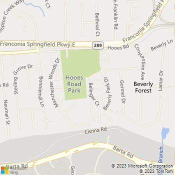 Map - Lock masters Locksmith - 7206 Beliger - Springfield, VA, 22150
