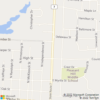 Map - Pleasant Hill Animal Clinic - 601 N State Route 7 - Pleasant Hill, MO, 64080