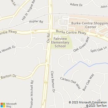 Map - Companion Animal Clinic - 10998 Clara Barton Dr - Fairfax Station, VA, 22039