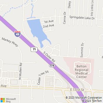 Map - Cottages Of Belton - 16889 Cottage St - Belton, MO, 64012