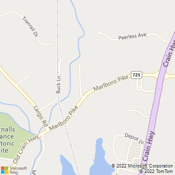Map - VCA Squire Animal Hospital - 15222 Marlboro Pke - Upper Marlboro, MD, 20772