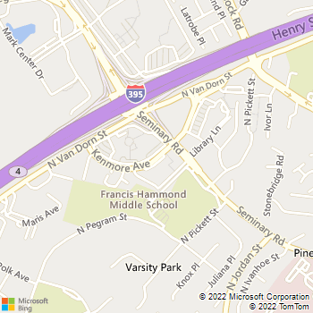 Map - Fast Locksmith - 4701 Kenmoore - Alexandria, VA, 22304