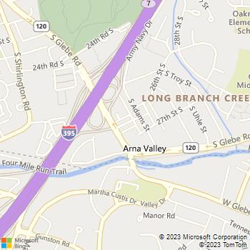Map - TRUE Health and Wholeness - 2444 26th Road S. - Arlington, VA, 22206