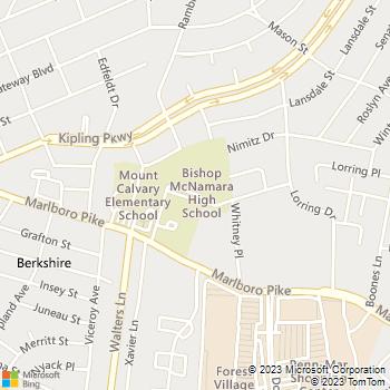 Map - Locksmith Services - 6800 Marlboro Pike - District Heights, MD, 20747