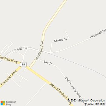 Map - Agape Veterinary Clinic - 6323 Hopewell Road - The Plains, VA, 20198