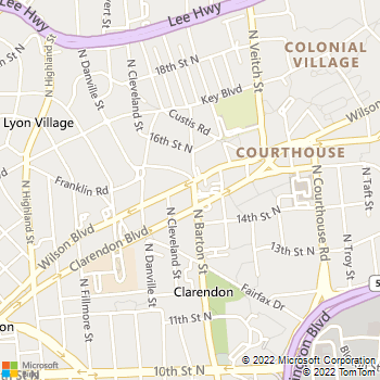 Map - Mathis and Mathis P.C. - 2500 Wilson Boulevard - Arlington, VA, 22201