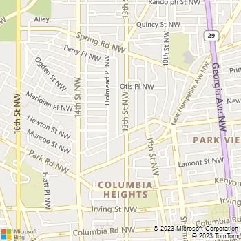 Map - Be Safe Locksmith - 3260 Mount Pleasant Street Nor - Washington, DC, 20010