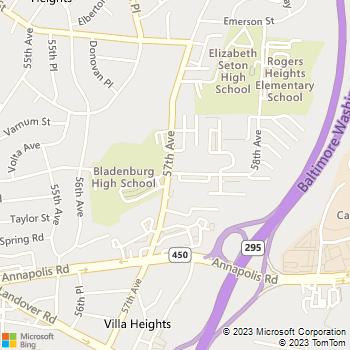 Map - Gateway Gardens - 4203 58th Ave - Bladensburg, MD, 20710