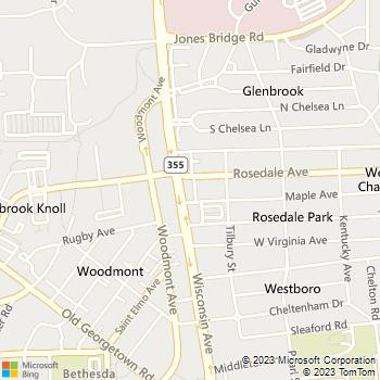 Map - Rosedale Park - 4720 Rosedale Ave - Bethesda, MD, 20814