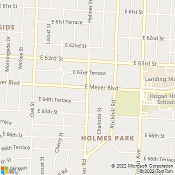 Map - Santa Fe Apartments - 8517 Holmes Street - Kansas City, MO, 64131