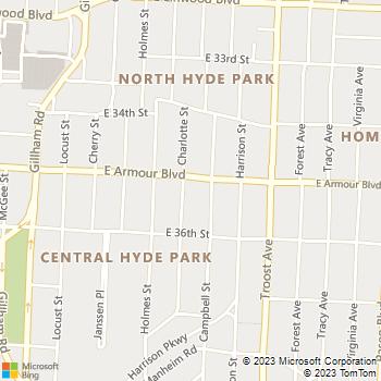 Map - The Brownhardt - 801 E. Armour Boulevard - Kansas City, MO, 64109