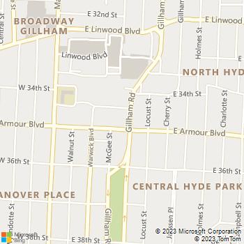 Map - Clyde Manor - 350 E. Armour Boulevard - Kansas City, MO, 64109
