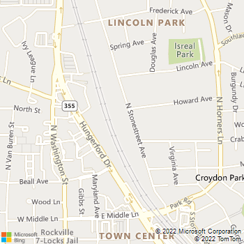 Map - RCG Development - 416 North Stonestreet Avenue - Rockville, MD, 20850