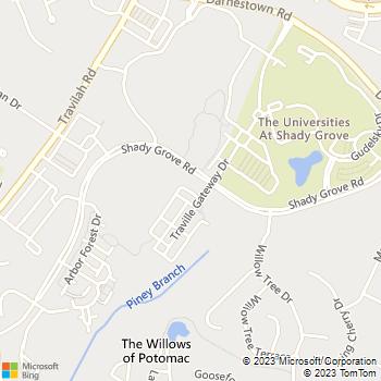 Map - Avalon at Traville - 14240 Alta Oaks Drive - Rockville, MD, 20850