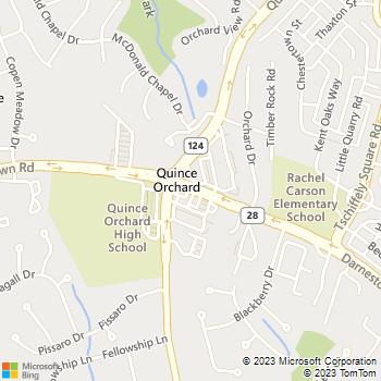 Map - Gaithersburg Locksmith - 12154 Darnestown Rd - Gaithersburg, MD, 20877