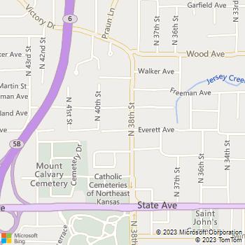 Map - Eagles Nest Apartments - 1400 N 38th St - Kansas City, KS, 66102