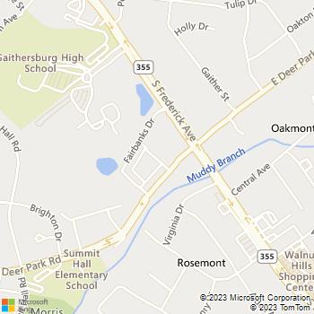 Map - Highland Square - 17 Barkley Ln - Gaithersburg, MD, 20877