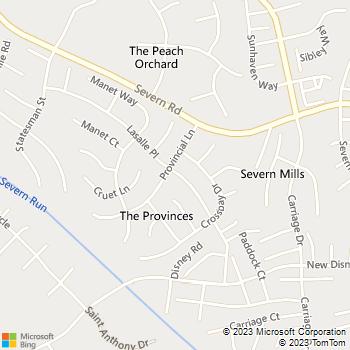 Map - Fidelity Locksmiths - 1776 Lasalle Pl - Severn, MD, 21144