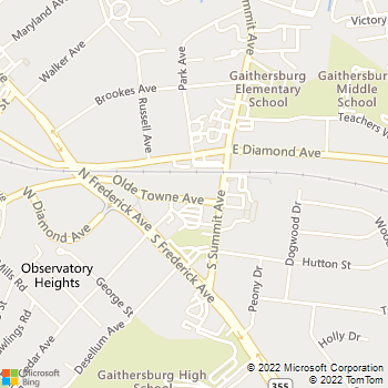 Map - Cedar Court - 108 Olde Towne Ave - Gaithersburg, MD, 20877