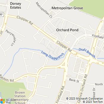 Map - eaves Gaithersburg - 750 Clopper Road - Gaithersburg, MD, 20878