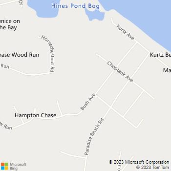 Map - Bayside Building - 7658 Bush Avenue - Pasadena, MD, 21122