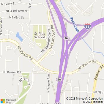 Map - Briar Hill Apartments - 4123 NE Davidson Rd - Kansas City, MO, 64116