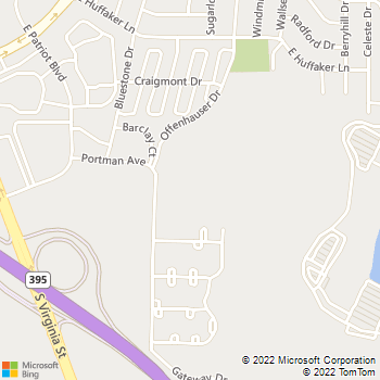 Map - Comstock Hills - 8000 Offenhauser Dr - Reno, NV, 89511